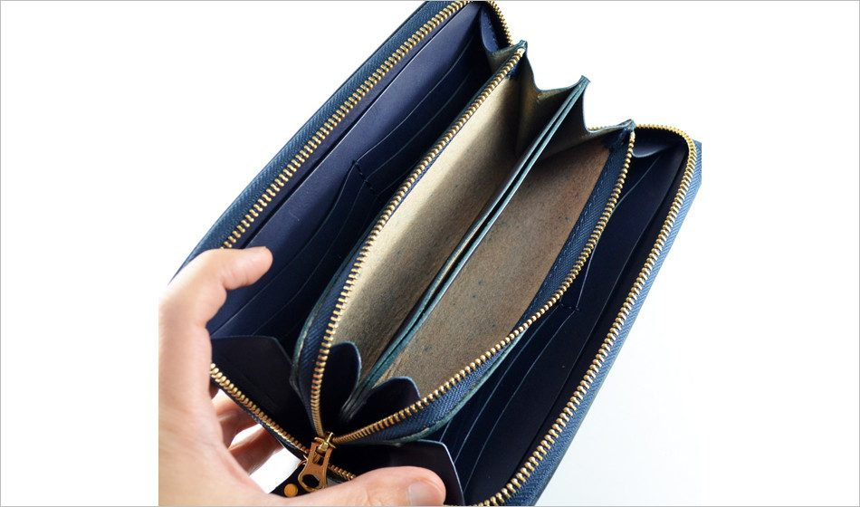 小銭が見やすいファスナー財布(F2)
