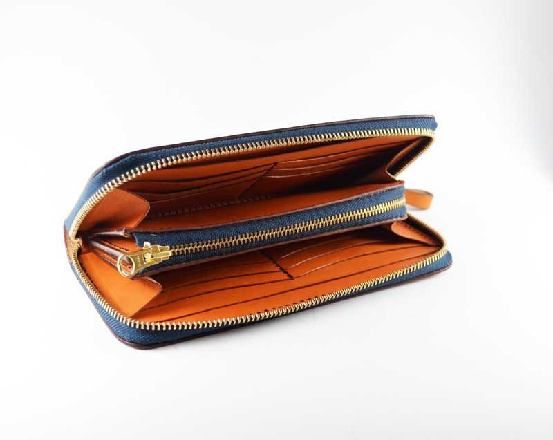 小銭が見やすいファスナー財布