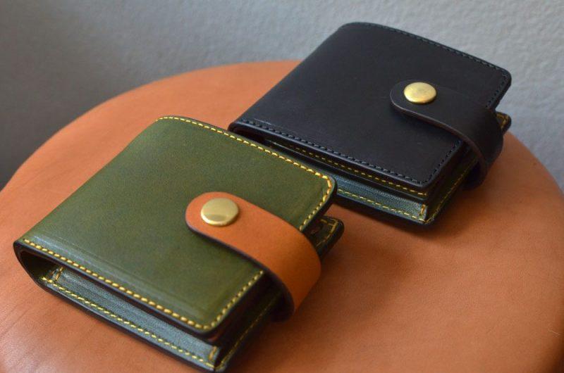 二つ折りBOX財布ベルト付き。