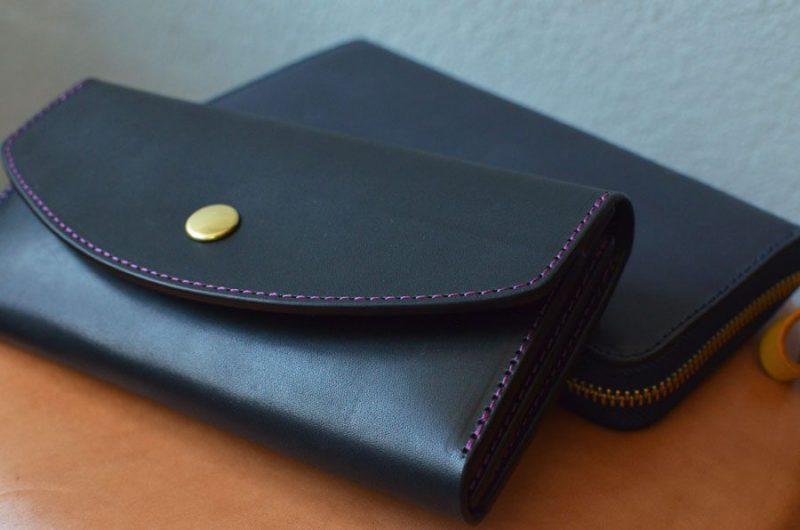真鍮コンチョ長財布&ファスナー財布のペア財布。