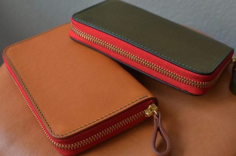 ファスナーミドル財布のペア財布。