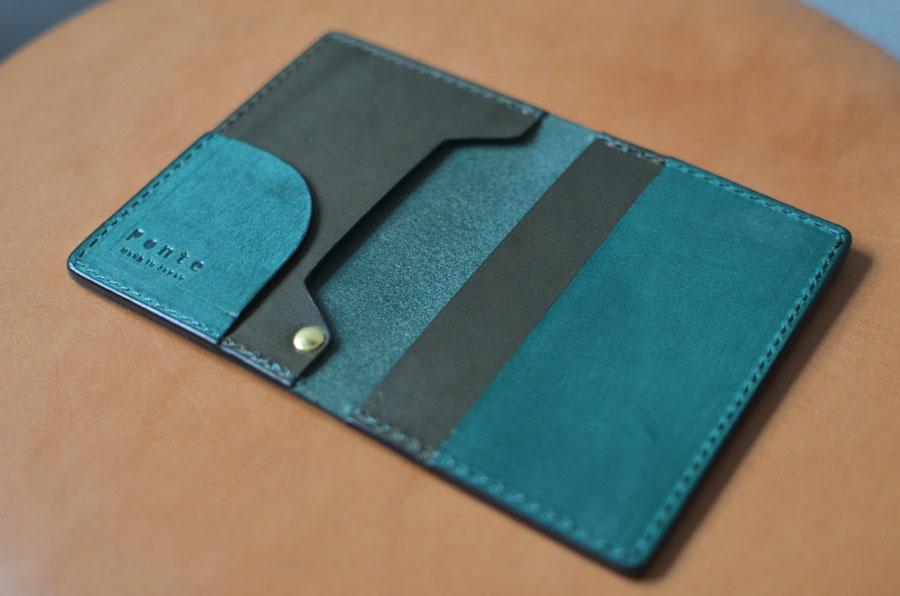 オーダーメイド 革製品 財布 ペンケース Ponte パスケース