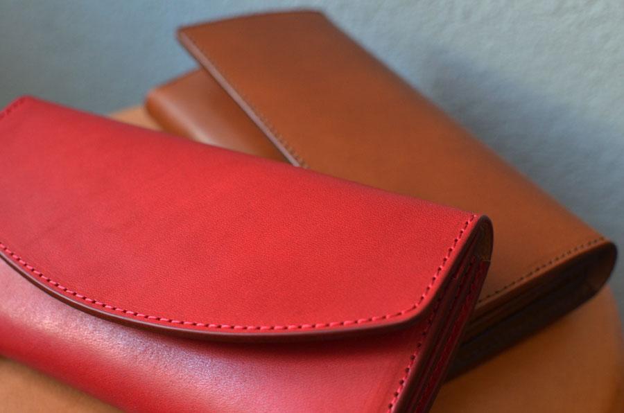 セミオーダーメイド ペア財布 真鍮コンチョ付き長財布 クラッチ財布