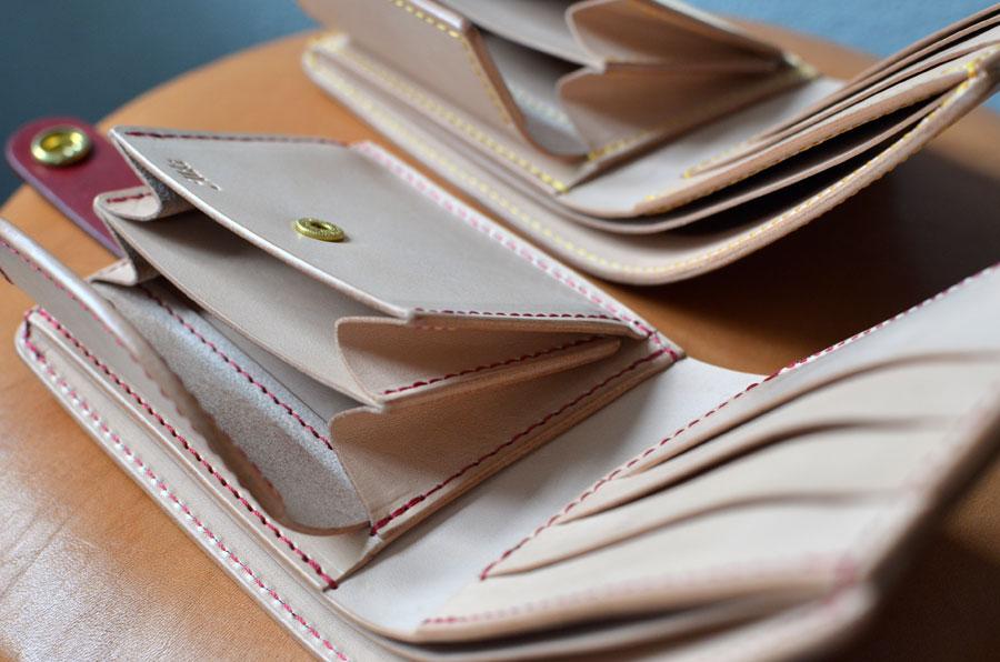 二つ折り財布 ペア財布 ヌメ革