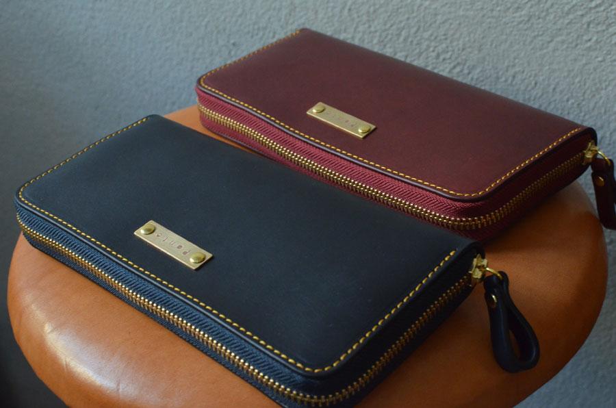 ラウンドファスナー財布のペア財布