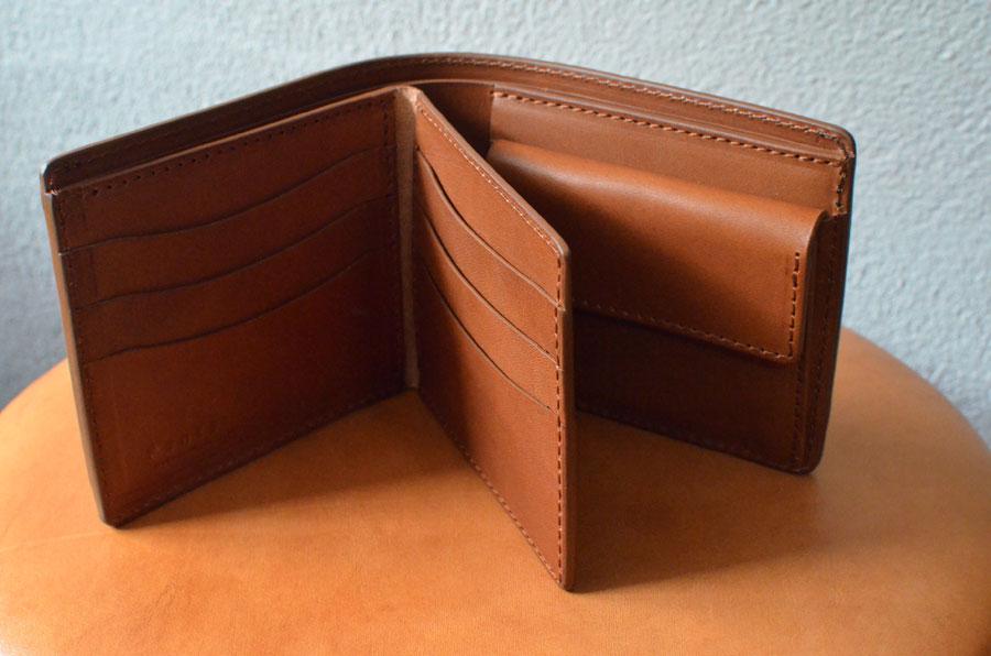 二つ折り財布 セミオーダーメイド 革財布