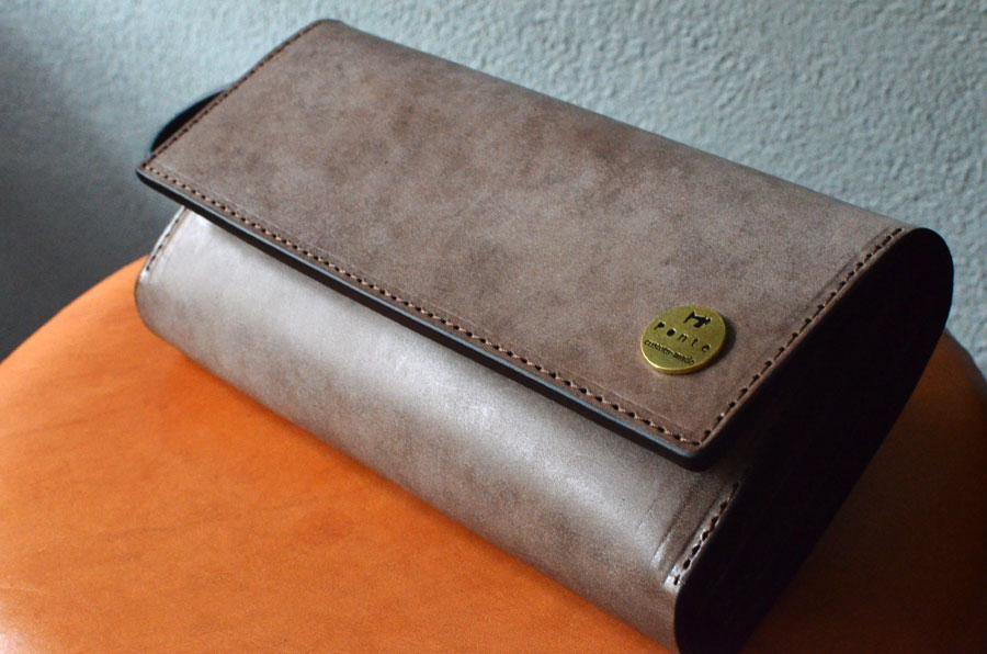 小銭が見やすいクラッチ財布 セミオーダーメイド
