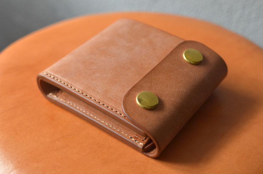 ホックショート財布 セミオーダーメイド ブラウン