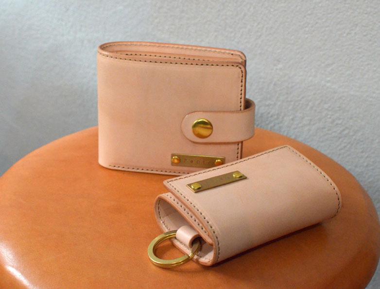 ヌメ革 二つ折り財布 キーケース