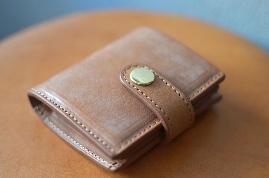 ミニ財布 ブルームレザーブラウン