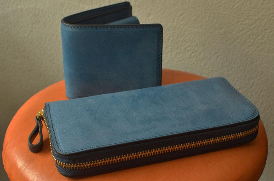 二つ折りBOX財布 小銭が見やすいファスナー財布 ペア財布