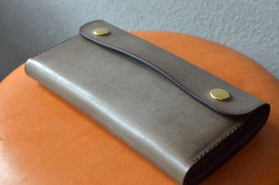ブルームレザーグレー 長財布