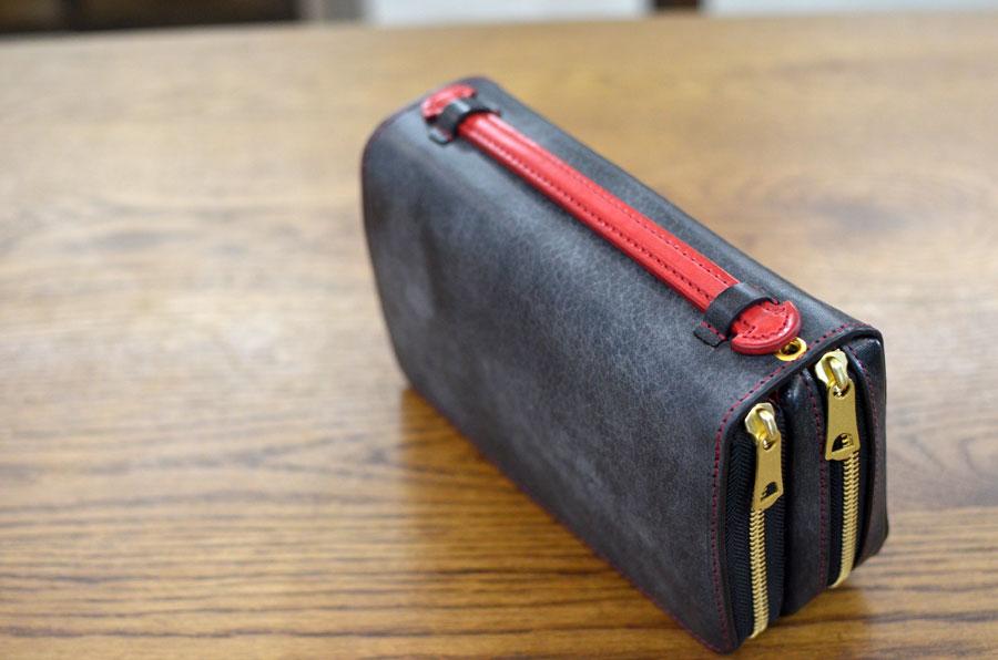 ダブルファスナー財布バッグ