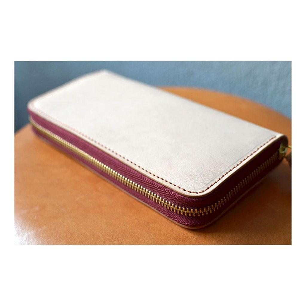ヌメ革のオーダーメイド財布